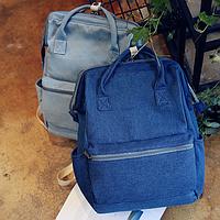 Джинсовая сумка-рюкзак для города .