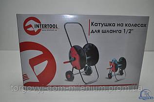 Катушка для шланга на колесах 1/2 InterTool GE-3001