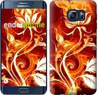 "Чехол на Samsung Galaxy S6 Edge Plus G928 Огненная роза ""112u-189"""