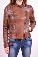 Куртка женская из натуральной кожи (цв.коричневый) демисезонная ARIZONA ceylan Размер:42