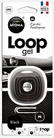 Освежитель Aroma Car Loop Gel на решетку обдува, аромат black