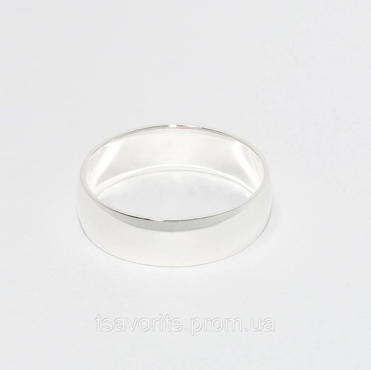 Серебряное обручальное кольцо 10201-Д