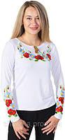 Женская вышитая футболка (длинный рукав)