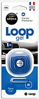 Освежитель Aroma Car Loop Gel на решетку обдува, аромат новый автомобиль