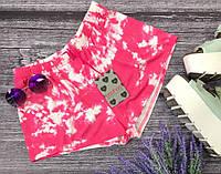 Пляжные шорты из натурального трикотажа в tie-dye принт  SR2968