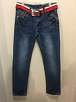 Джинсы на подростка с ремнем 158 см, фото 1