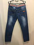Джинсы для подростка с серым ремнем 164 см, фото 3