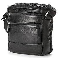 Красивая кожаная наплечная мужская сумка в классическом стиле SHVIGEL 00926