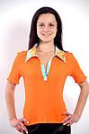 Футболка рубашка оранжевая трикотажная  арт 121199, фото 2