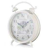 Металлические настольные часы в стиле прованс