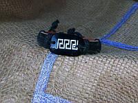 Кожаный браслет ЗНАКИ - ГРЕЧЕСКИЙ УЗОР  на руку, ручная работа