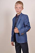 Пиджак для мальчика джинсовый Slim Fit (color 01) Palmiro Rossi 8057/01 Рост:122,128,134,140