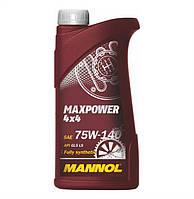 Трансмиссионное масло Mannol 4*4 Max Power 75w140 1л GL-5
