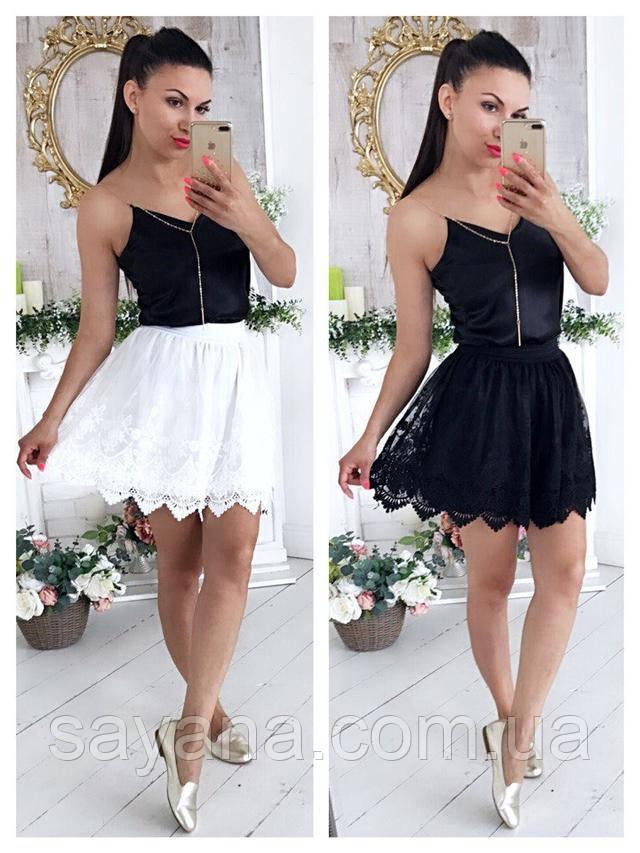 модная юбка из кружева