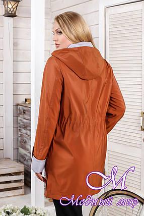 Жіноча демісезонна куртка великих розмірів (р. 48-60) арт. 1026 Тон 573, фото 2