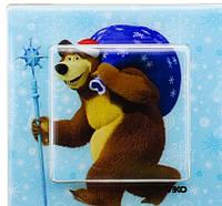 Розетка с землением и крышкой Viko KARRE Медведь с подарками