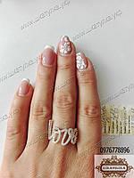 Кольцо из серебра и золота Любовь