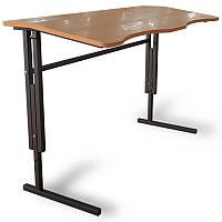 Антисколиозный стол Аудиторный ученический,регулируемый по высоте 2-х местный для школьников.