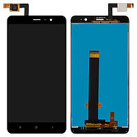 Дисплей (экран) для Xiaomi Redmi Note 3 Pro SE + с сенсором (тачскрином) черный Оригинал