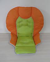 Чехол на стульчик Chicco Polly 2 в 1 комбинированный оранжевый + зеленое яблоко
