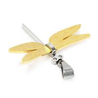 Кулон Стрекоза с золотистыми крыльями Арт. PD011SL, фото 2
