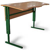 Антисколиозный стол Аудиторный ученический,регулируемый по высоте с царгой 2-х местный для школьников.