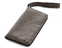 Удобный кожаный чехол-футляр для телефона с тиснением и блестящими вставками молнии big (100898)
