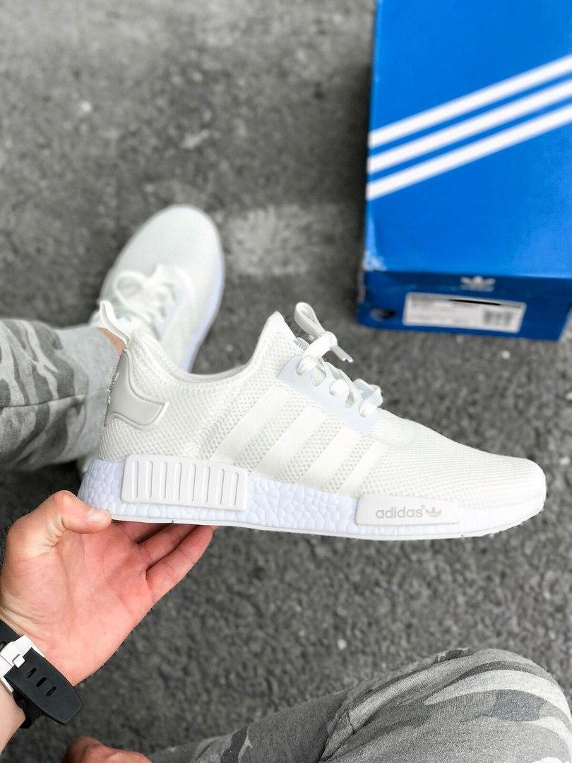 Кроссовки Adidas NMD R1 Reflective White 3M. Живое фото! Топ качество! (Реплика ААА+)