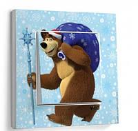 Выкл 1ный  Viko KARRE Медведь с подарками