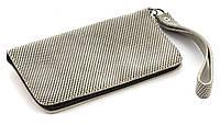 Удобный кожаный чехол-футляр для телефона с блестящими вставками молнии big (100890)