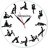 """Настенные часы """"Камасутра"""" из стекла"""