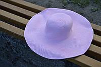 Стильная женская летняя пляжная шляпа с широкими полями розового цвета