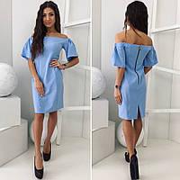 Женское платье (42; 44; 46) —костюмка  купить оптом и в Розницу в одессе  7км