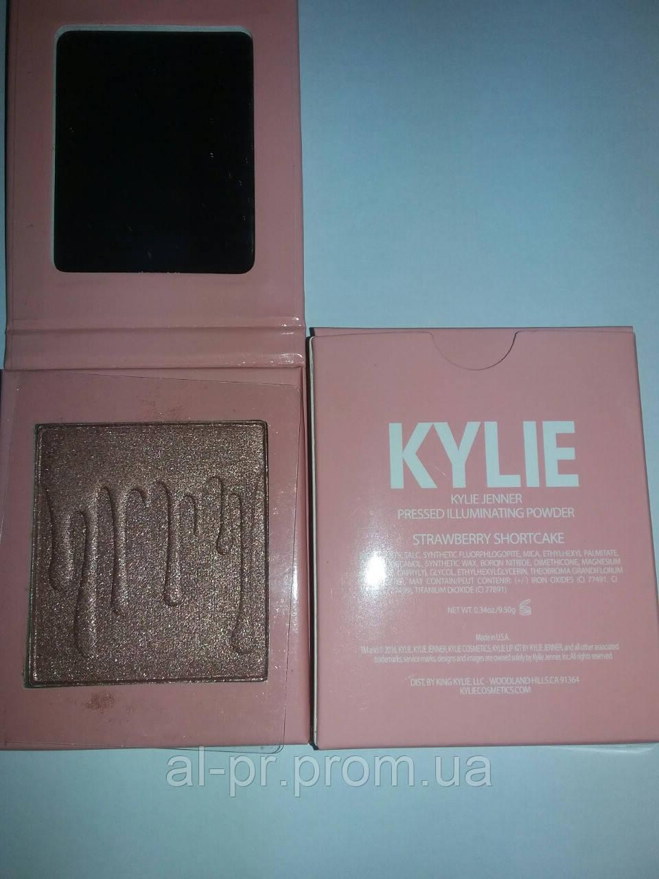 Хайлайтер для лица Kylie Jenner Pressed Illuminating Powder Strewberry Shortcake