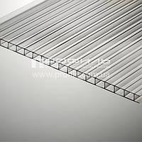 СОТОВЫЙ ПОЛИКАРБОНАТ POLYGAL 4мм. прозрачный (тепличный) 2100X9000