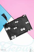 Кожаная сумка клатч. Цвет черный.