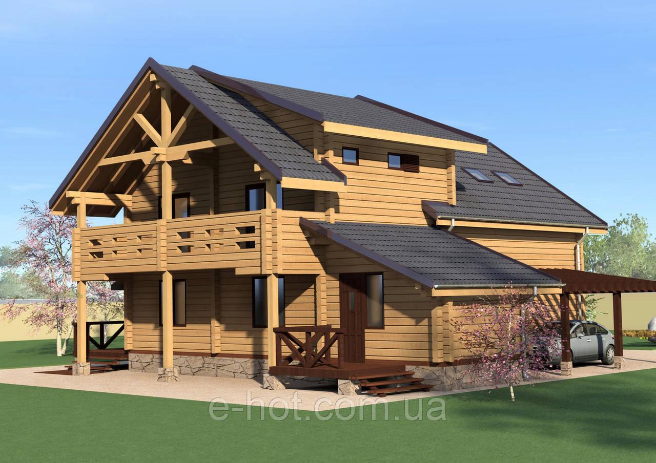 Проектирование дома из клееного бруса