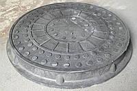 Люк канализационный ПП до 1,5 т круглый черный (2000000045214)