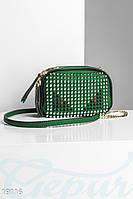 Яркая женская сумка. Цвет зеленый.