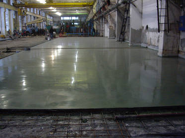 Технология устройства бетонных полов с топпингом