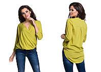 Блузка (42,44,46) —  штапель купить оптом и в Розницу в одессе 7км