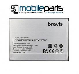 Оригинальный аккумулятор АКБ (Батарея) Bravis Bright | A501 (2000mAh 3.8V)