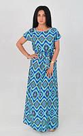 Модное женское платье   длинное с штапеля с 44 по 58  размер