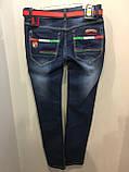 Демисезонные джинсы на подростка с молниями 164 см, фото 3