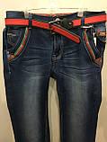 Демисезонные джинсы на подростка с молниями 164 см, фото 2