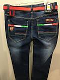 Демисезонные джинсы на подростка с молниями 164 см, фото 4