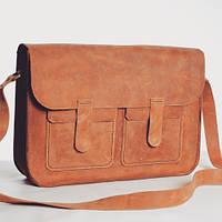 Кожаная мужская сумка ручной работыHordi
