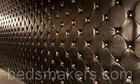 Мягкие стеновые панели из ткани и кожи на заказ в Одессе