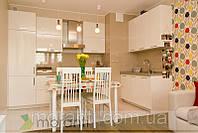 Кухня на заказ МДФ белый глянец серии Глосс