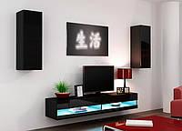 VIGO NEW X Современная Гостиная стенка черный/черный глянец CAMA